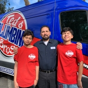 Plumber Ted Bustos and His Two Sons