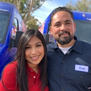 Plumber Ted Bustos and His Wife